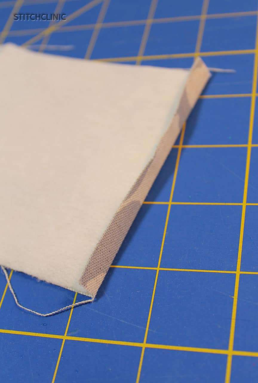 Fabric end folded.