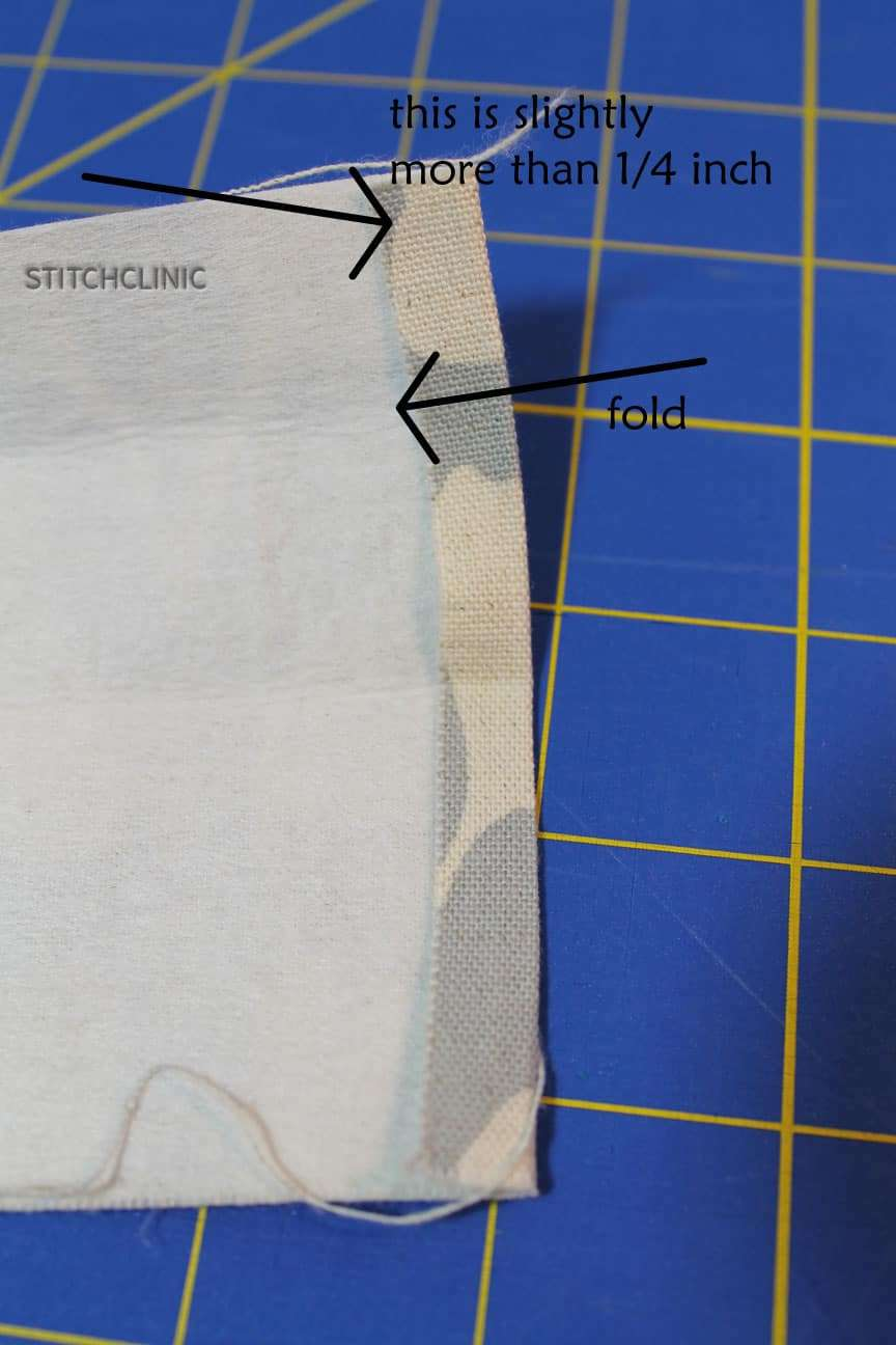 Folding down the strap end