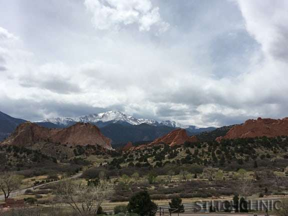 Garden of the Gods, CO - Where to buy yarn and fabric when traveling - stitchclinic.com