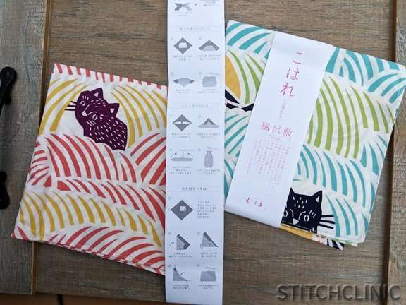 Kitty Fabric Gift Wrap from Japan - Where to buy fabric when traveling - stitchclinic.com