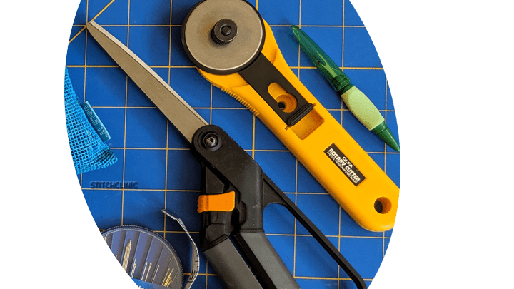 Scissors, rotary cutter, seam ripper