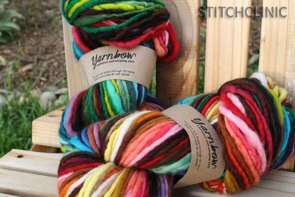 YarnBow self striping yarn by folktale fibers. - Maryland Sheep and Wool Festival
