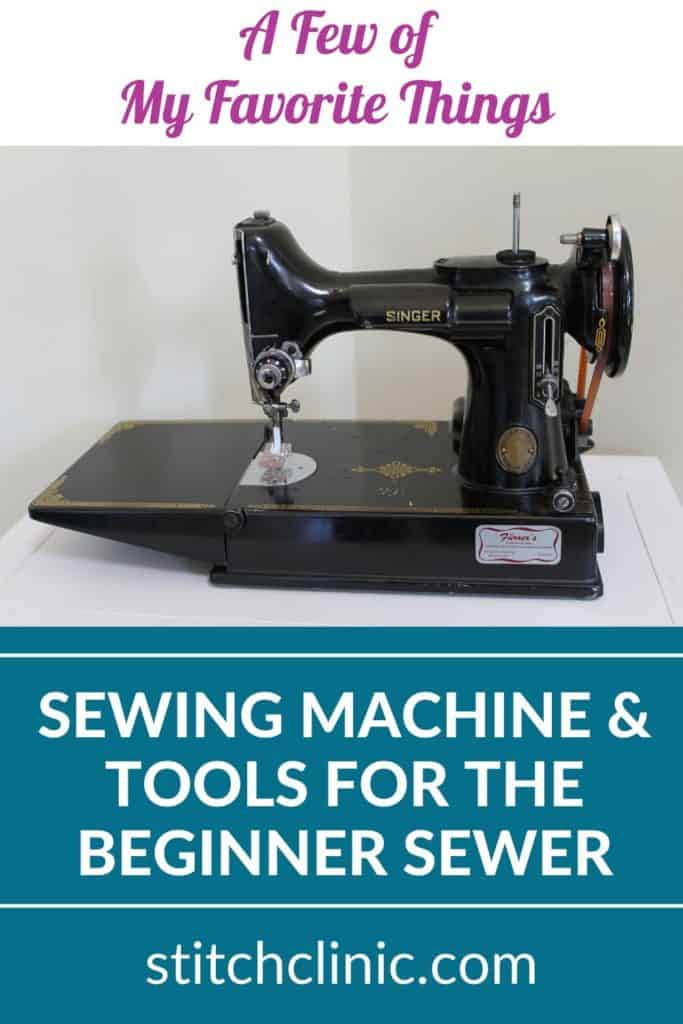 photo of a singer featherweight sewing machine