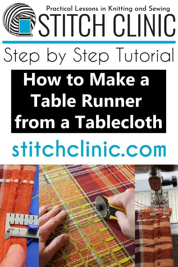How to Make a Tablecloth into a Table Runner