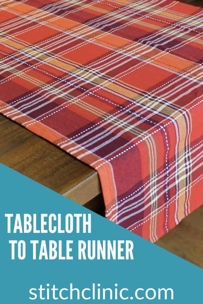 Table runner on a table