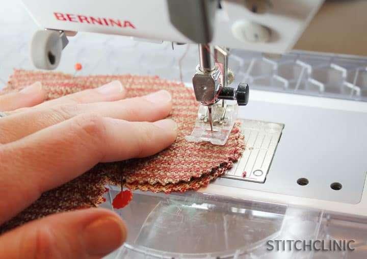 Sewing Fabric Hearts Garland