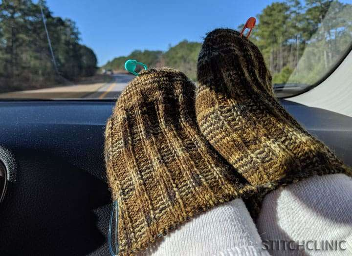 Make time to knit in the car