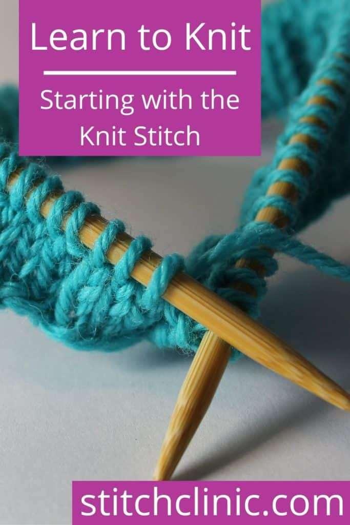 knitting needles with yarn